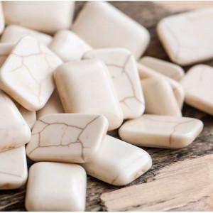 Кабошон бирюза синтетическая, прямоугольный, цвет белый...