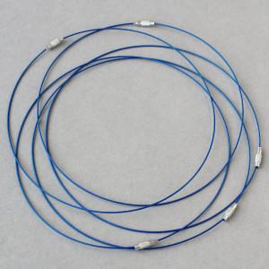 Чокер сталь в оплетке, синий, 44.5 см толщина 1 мм...