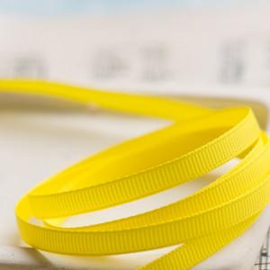 Репсовая лента, желтый, ширина 6 мм...