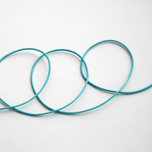 Шнур вощеный синт., голубой, 1 мм...