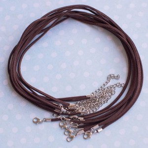 Основа для ожерелья, им.замши, коричневый, 490х2 мм...