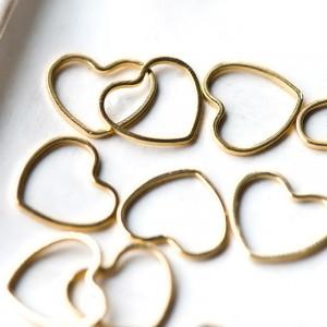 Коннектор в виде сердечка, покрытие Real Gold Plated, 1...