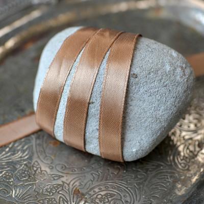 Атласная лента, цв. какао, ширина 10 мм