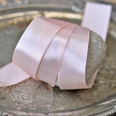Лента, атлас, цвет бледно-розовый, ширина 25 мм