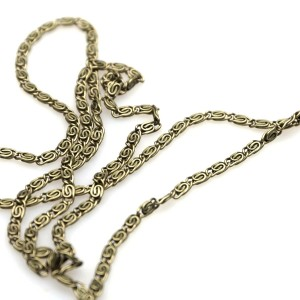Цепочка для бижутерии, античная бронза, размер 2,8x0,6 мм