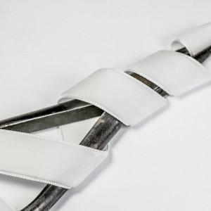Бархатная лента, белый, ширина 15,9 мм...