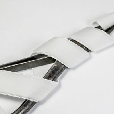 Бархатная лента, белый, ширина 15,9 мм