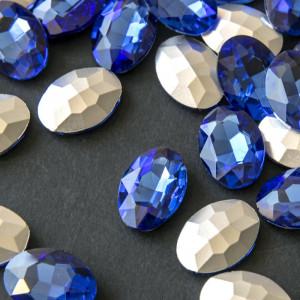 Кристаллы с фольгированной поверхностью, овал, светло-с...