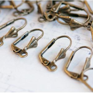 Швензы (основы для сережек), античная бронза, 5.6x16.7x...