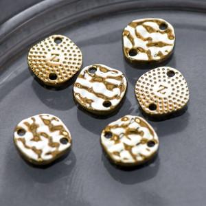 Коннектор, светлое золото, 11.5x11x2 мм...
