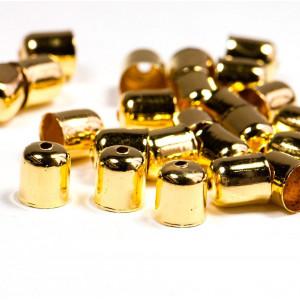 Концевик для шнура, цвет золото, 8x7 мм...
