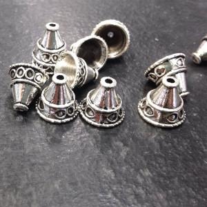 Колпачок для бусин, античное серебро, 11x13х13 мм...