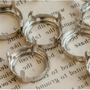Цапы круглой формы, открытые, цвет платина, 16 мм...