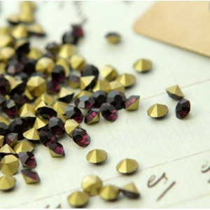 Стразы стеклянные ювелирные, цвет фиолетовый, 3.6 мм (у...