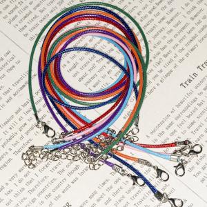 Основа для ожерелья, вощеный шнур, разные цвета, 460х2 ...
