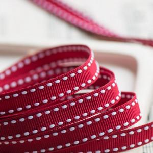 Лента из репса, бордовый, ширина 9 мм...