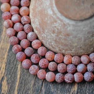 Бусины агата, цвет сиреневый, окрашен., матовый, 10 мм...