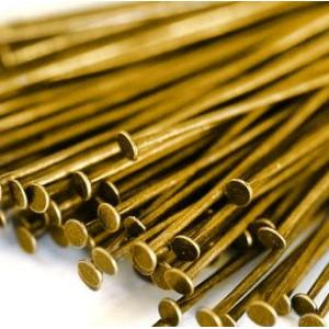 Пины-штифты-гвоздики, золото, 35х0.7 мм (210 шт)...