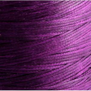 Плоский вощеный шнур синт., цвет фиолетовый, 1х0,4 мм...