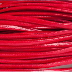 Шнур из искусственной кожи, плоский, красный, 2х1 мм...