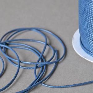 Шнур вощеный синт., морской синий, 2 мм...
