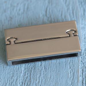 Застежка магнитная, цв. платина, 37x19x7 мм...