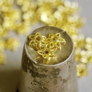 Чашечка (шапочка) для бусин, цв. золото, 10х9х3 мм...