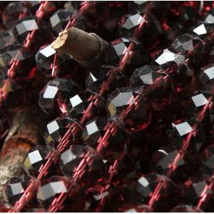 Бусина абакус стеклянная граненая, корицы, 12х8 мм...
