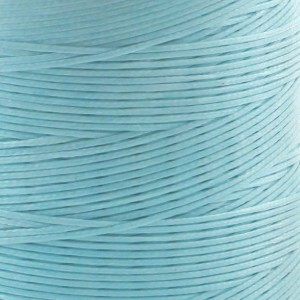 Плоский вощеный шнур синт., цвет голубой, 1х0,4 мм...