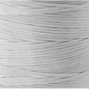 Плоский вощеный шнур синт., белый, 1х0,4 мм...