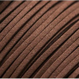 Шнур из искусственной замши, шоколадный, 3х1.5 мм...