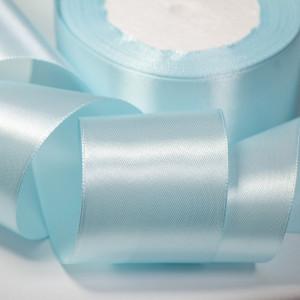 Атласная лента, светло-голубой, ширина 50 мм...