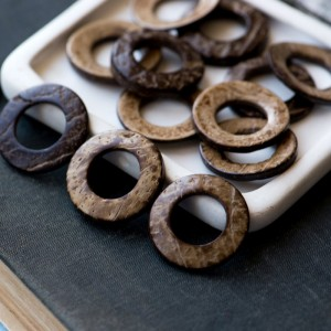Подвеска в форме кольца, из кокоса, цвет коричневый, 32...