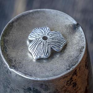 Чашечка (шапочка) для бусин, античное серебро, 11х2,5 м...
