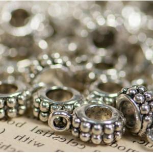 Бейл, античное серебро,13x8x5 мм...