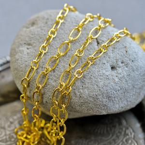 Цепочка для бижутерии, цвет золото, размер звена 9x5x1 ...
