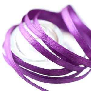 Атласная лента, фиолетовый, ширина 3 мм...