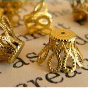 Колпачок для бусин, золото, 6х5 мм (20 шт)...