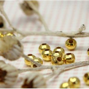 Бусины металлические, золото, 4 мм...