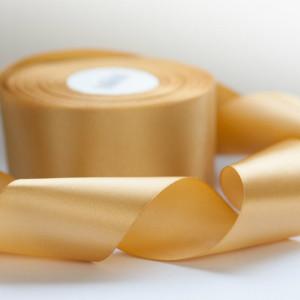 Атласная лента, золотистый, ширина 50 мм...