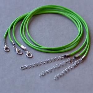 Основа для ожерелья, вощеный шнур, яблочный, 450х2 мм...