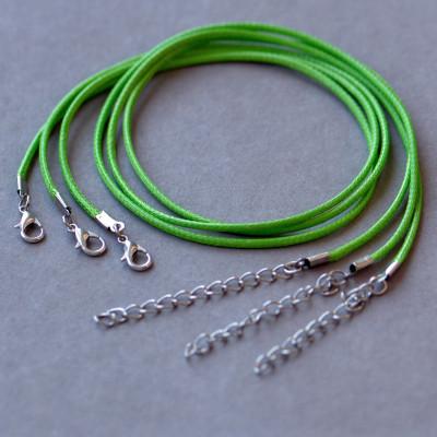 Основа для ожерелья, вощеный шнур, яблочный, 450х2 мм