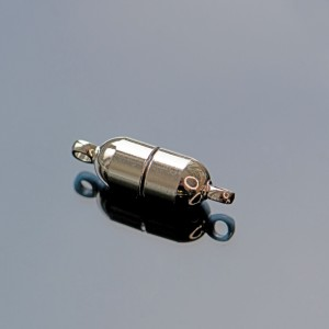 Застежка магнитная круглая, покрытие платина, 19x6 мм...