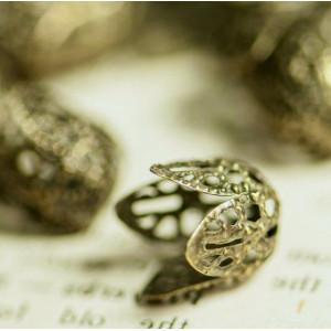 Колпачок для бусин, античная бронза, 11x10x12 мм...
