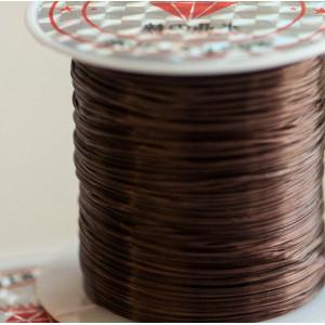 Эластичная резинка для браслета,, коричневый, Толщина -...