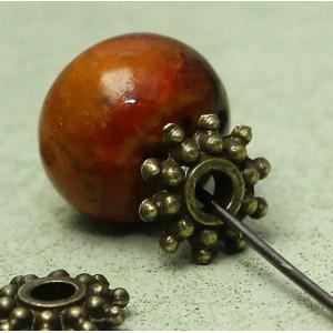 Разделитель-рондель для бусин, античная бронза, 8х2 мм...