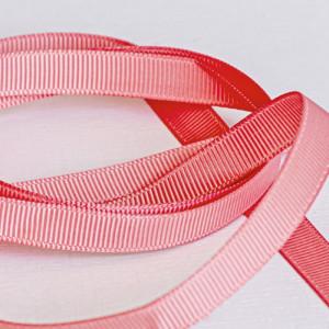 Репсовая лента, оранжево-розовый, ширина 9,5 мм...