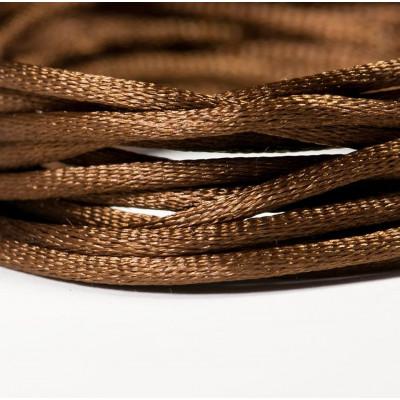 Атласный шнур для кумихимо, коричневый, 2 мм