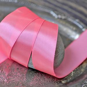 Лента, атлас, цвет неоновый розовый, ширина 25 мм...