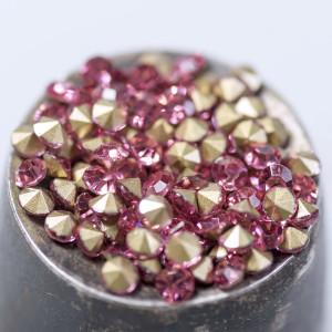 Стразы горный хрусталь, цвет розовый, 2,8 мм (уп 10 шт)...